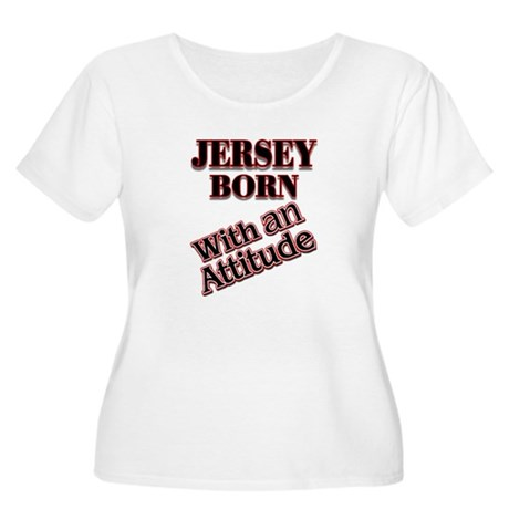 born in Jersey Women's Plus Size Scoop Neck T-Shir
