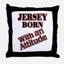 born in Jersey Throw Pillow