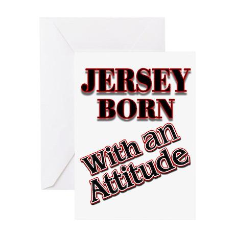 born in Jersey Greeting Card
