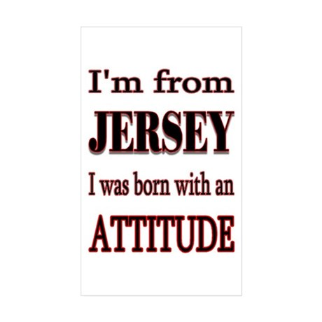 from Jersey Sticker (Rectangle 10 pk)