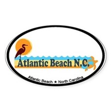 Atlantic Beach NC - Beach Design Decal