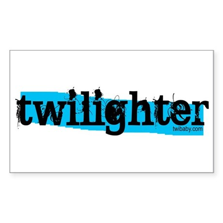 Twilighter Hot Aqua by twibaby Sticker (Rectangle)