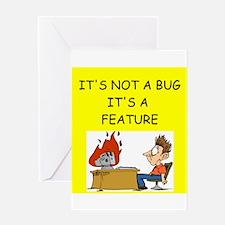 tech support geek joke Greeting Card