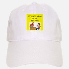 tech support geek joke Baseball Baseball Cap