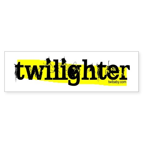 Twilighter Hot Yellow by twibaby Sticker (Bumper)