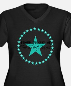 Teal SR Women's Plus Size V-Neck Dark T-Shirt
