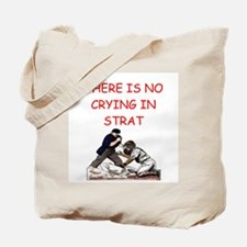 strat-o-matic baseball joke Tote Bag