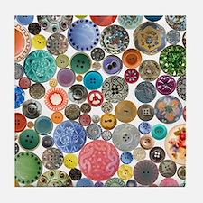 Button Collage Fun Stuff Tile Coaster