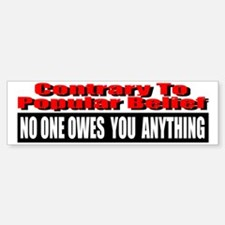 No One Owes You Anything Bumper Bumper Sticker
