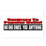 No One Owes You Anything Postcards (Package of 8)