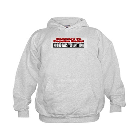 No One Owes You Anything Kids Hoodie