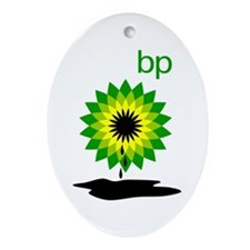 BP Oil... Puddle Ornament (Oval)