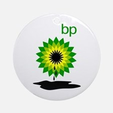 BP Oil... Puddle Ornament (Round)