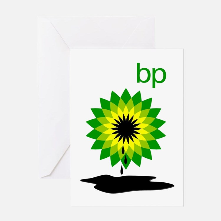 BP Oil... Puddle Greeting Card