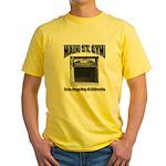Main Street Gym Yellow T-Shirt