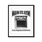 Main Street Gym Framed Panel Print