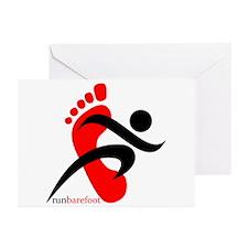 runbarefoot 2 Greeting Cards (Pk of 10)