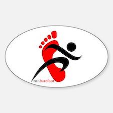runbarefoot 2 Sticker (Oval)