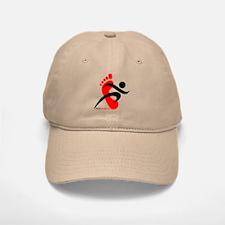 runbarefoot 2 Baseball Baseball Cap