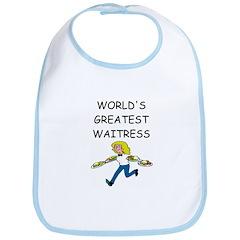 world's greatest waitress Bib