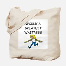 world's greatest waitress Tote Bag