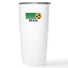 Brasil Soccer Travel Mug