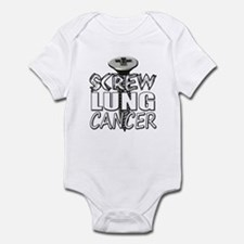 Screw Lung Cancer Infant Bodysuit
