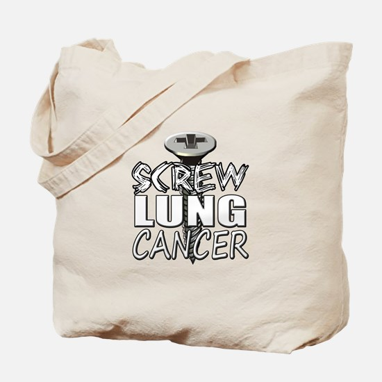 Screw Lung Cancer Tote Bag