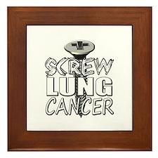 Screw Lung Cancer Framed Tile