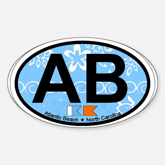 Atlantic Beach NC - Oval Design Sticker (Oval)