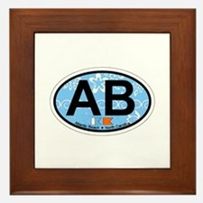 Atlantic Beach NC - Oval Design Framed Tile