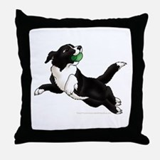 Border Collie Pup Throw Pillow