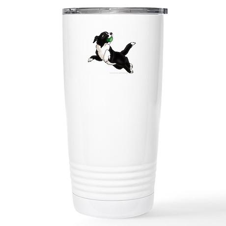 Border Collie Pup Stainless Steel Travel Mug
