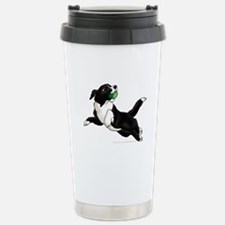 Border Collie Pup Stainless Steel Travel Mug