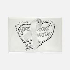 Hope Love Faith Rectangle Magnet