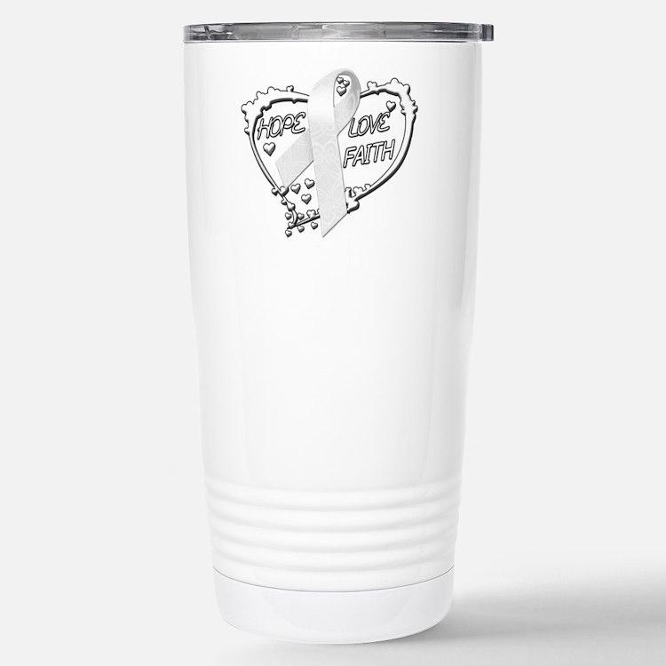 Hope Love Faith Stainless Steel Travel Mug