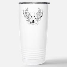 Awareness Tribal White Stainless Steel Travel Mug