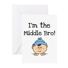 I'm the Middle Bro Greeting Cards (Pk of 10)