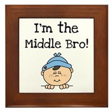 I'm the Middle Bro Framed Tile