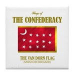 Van Dorn Flag Tile Coaster