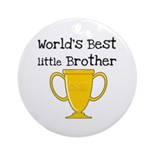 World's Best Little Brother Ornament (Round)