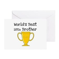 World's Best Little Brother Greeting Card