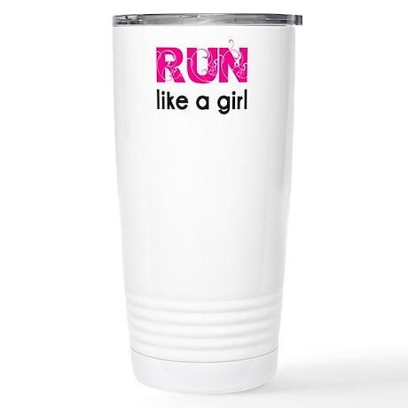 Run like a girl Stainless Steel Travel Mug