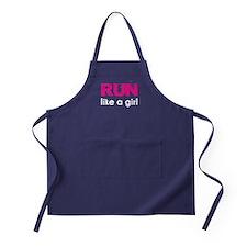 Run like a girl Apron (dark)