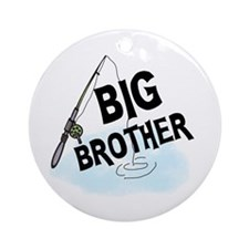 Fishing Big Brother Ornament (Round)
