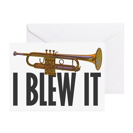 I Blew It Trumpet Greeting Cards (Pk of 20)
