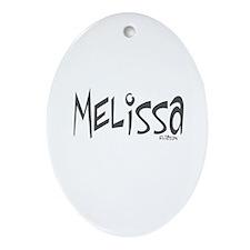 Melissa Oval Ornament