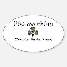 Kiss My Ass Sticker (Oval)