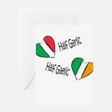 Half Garlic/Half Gaelic Greeting Card