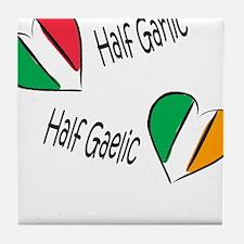 Half Garlic/Half Gaelic Tile Coaster